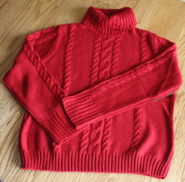 My new sale sweater. :)